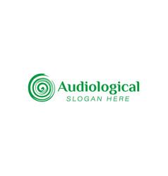 Hearing audiological clinic care logo ideas vector