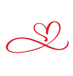 Heart love flourish sign forever infinity vector