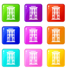 Hotel building set 9 vector