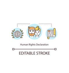 Human rights declaration concept icon vector