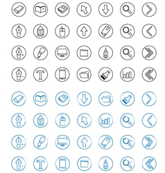 Icon Line Style vector image