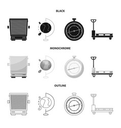 Isolated object of goods and cargo sign set of vector