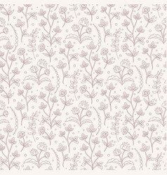 Jacobean floral pattern meadow flowers vector