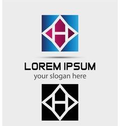 Letter H logo symbol icon vector