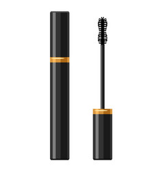 Mascara for make up of object on vector