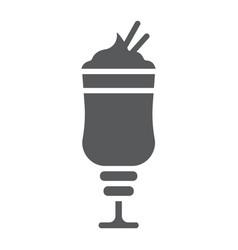 Mocha glyph icon coffee and cafe coffee cream vector
