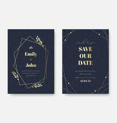 modern wedding invitation elegant invite card vector image