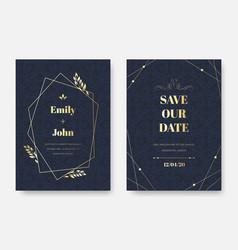 modern wedding invitation elegant invite card vector image