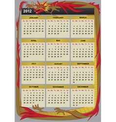 New year 2012 calendar vector