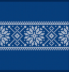 Norwegian native style sweater ornament with vector