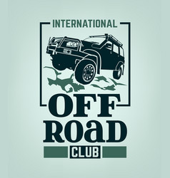 off road club vector image