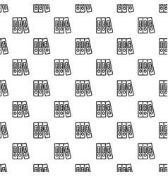 office folder pattern seamless vector image