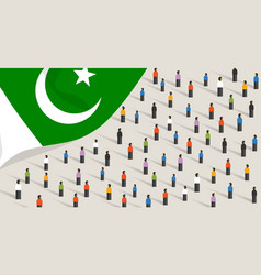 pakistani independence anniversary celebration and vector image
