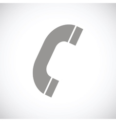 Phone black icon vector image