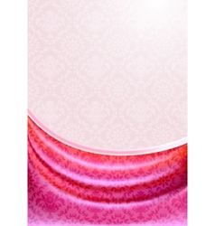 Pink curtain silk tissueeps vector