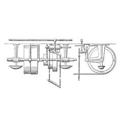 pneumatic belt shifter vintage vector image