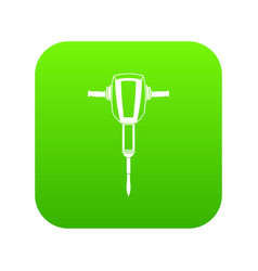 Pneumatic plugger hammer icon digital green vector