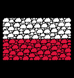 poland flag collage of cloud icons vector image