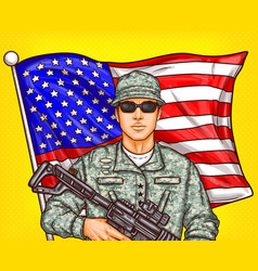 pop art patriotic a male vector image