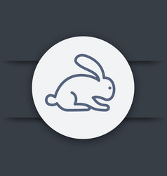 rabbit hare line icon eps 10 file vector image
