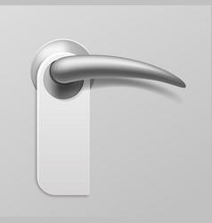 realistic door hanger blank paper do not disturb vector image