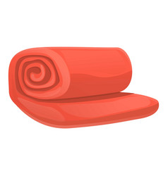 Red blanket icon cartoon style vector