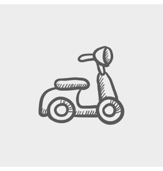 Scooter sketch icon vector image