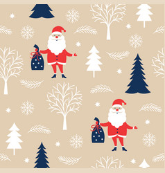 seamless christmas and new year pattern vector image