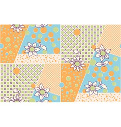 Seamless cute abstract summer pattern vector