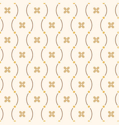 seamless minimalistic pattern of curved lines vector image
