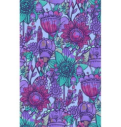 Seamless pattern with fantasy flowers vector