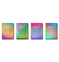 set four backgrounds for flyer vector image