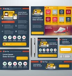 Set of Stationery Design Templates Flyer Booklet vector image
