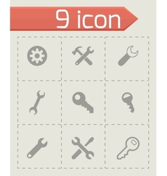 settings wrench icons set vector image