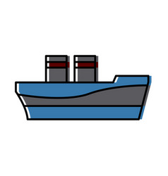ship cargo logistic sea transportation icon vector image