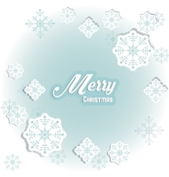 Snowflake icon Merry Christmas design vector