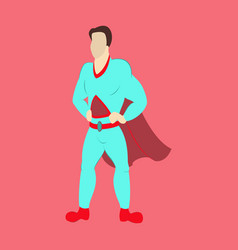 Superhero cartoon icon with superman vector