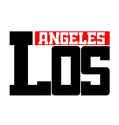 T shirt typography Los Angeles CA white vector