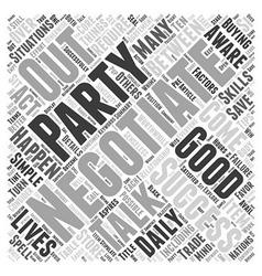 Ten Tips To Negotiate Successfully Word Cloud vector