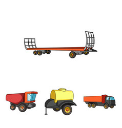 trailer with a barrel truck and other vector image