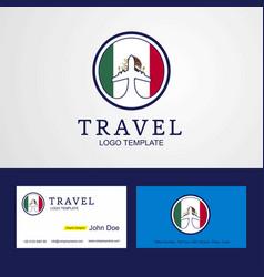 Travel mexico creative circle flag logo and vector