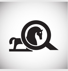 trojan virus horse on white background for graphic vector image