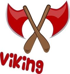 Viking Axe vector image