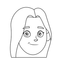 woman cartoon young portrait character female vector image