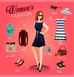 women fashion vector image