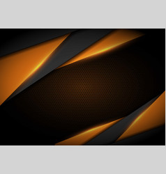 Yellow light with wavy mesh background cover vector