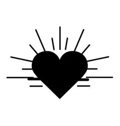 back contour heartbeat cardio vital sign vector image