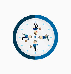 busy businessman running on the clock vector image