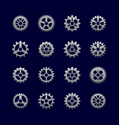 metal gears and cogwheels for transmission vector image
