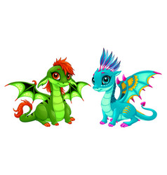 baby dragons with cute eyes vector image vector image